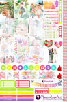 Spring Girls - Free Printable Stickers 4 Planners