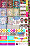 Death Princesses Printable Stickers