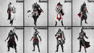 Altair to Arno Assassin's Creed Unity BlackNWhite