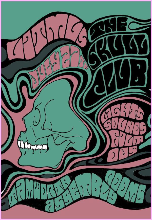 The Skull Club - Flyer One by Inky-la-reve
