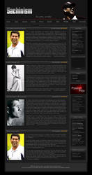 Sachinism Web Layout Concept by mukundnadkarni