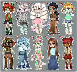 [100 Themes] Adopts 1-10 [CLOSED] by FrozenDiamond267