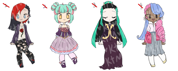 Two-Toned Hair Point Adopts [closed]