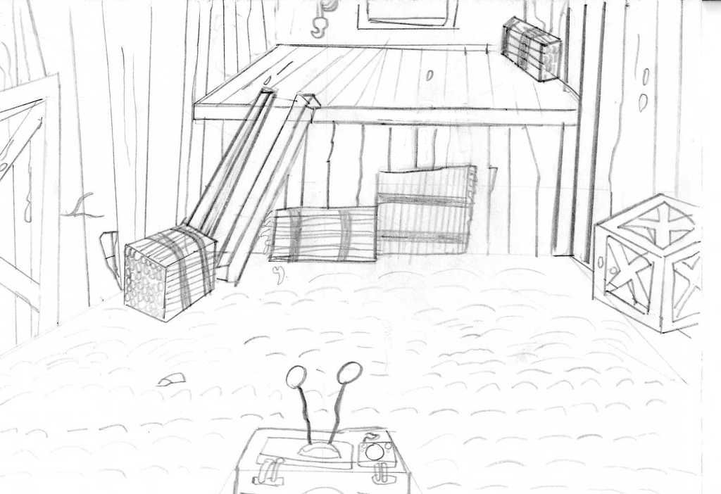 inside the barn uncoloured by babclayman