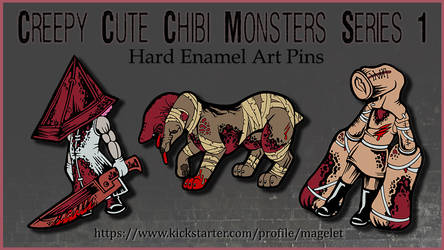 Silent Hill Inspired Chibi Monsters Kickstarter by Magelet