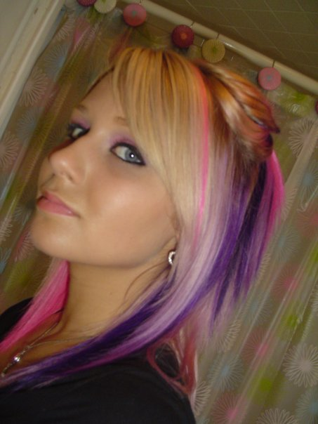 Pink n Purple Highlights by chunling91Bleach Blonde Hair With Pink Highlights