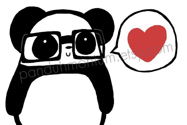 Nerdy Panda Love by Panduhmonium on DeviantArt