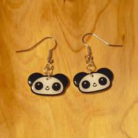 Little Panda Earrings by Panduhmonium