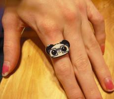 Little Nerdy Panda Ring by Panduhmonium