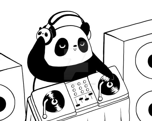 DJ Panda by Panduhmonium