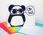 Oh Hai Nerdy Panda Card