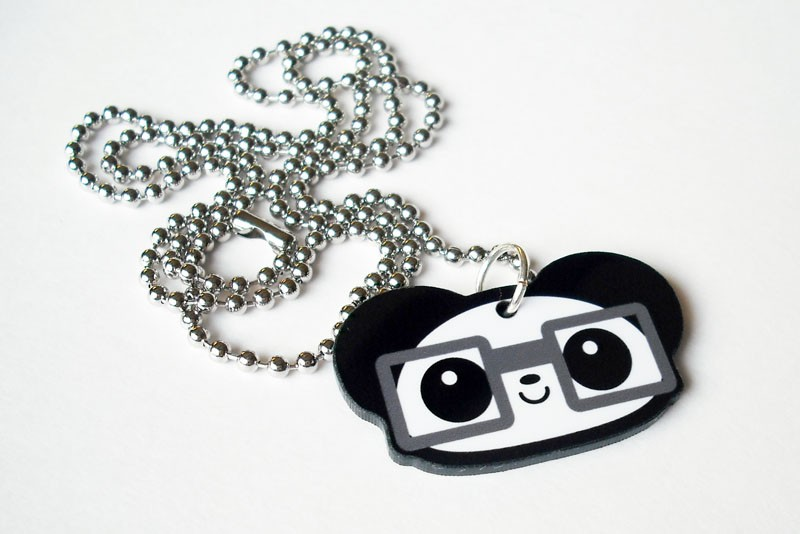 Nerdy Panda Necklace by Panduhmonium
