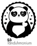 Panda Heart Cameo