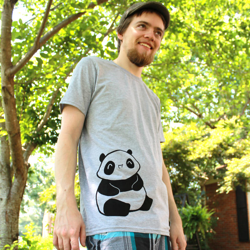 Maru the Chubby Baby Panda Shirt by Panduhmonium