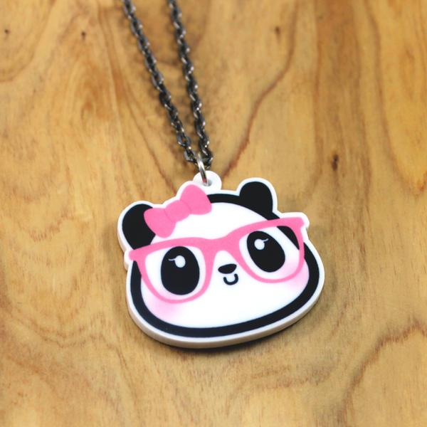 Dahlia the Nerdy Girl Panda Necklace by Panduhmonium