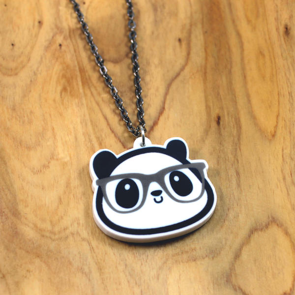 Diego the Nerdy Panda Necklace by Panduhmonium
