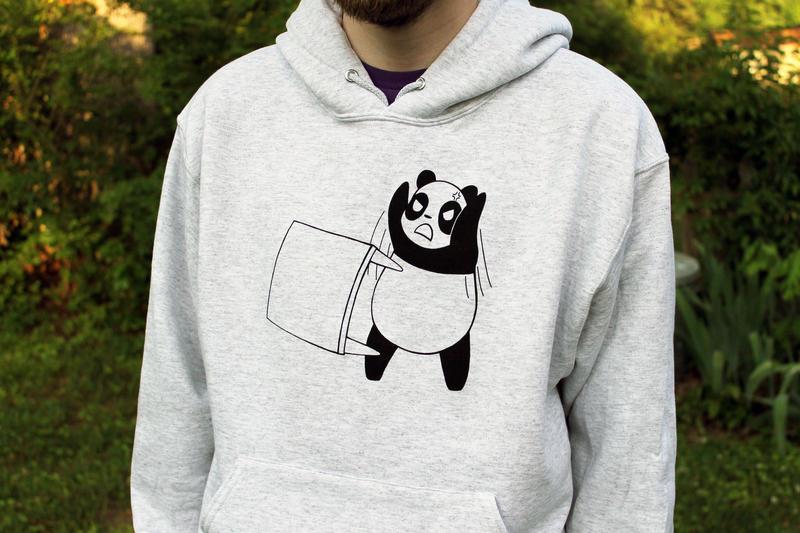 Panda Table Flip Hoodie by Panduhmonium