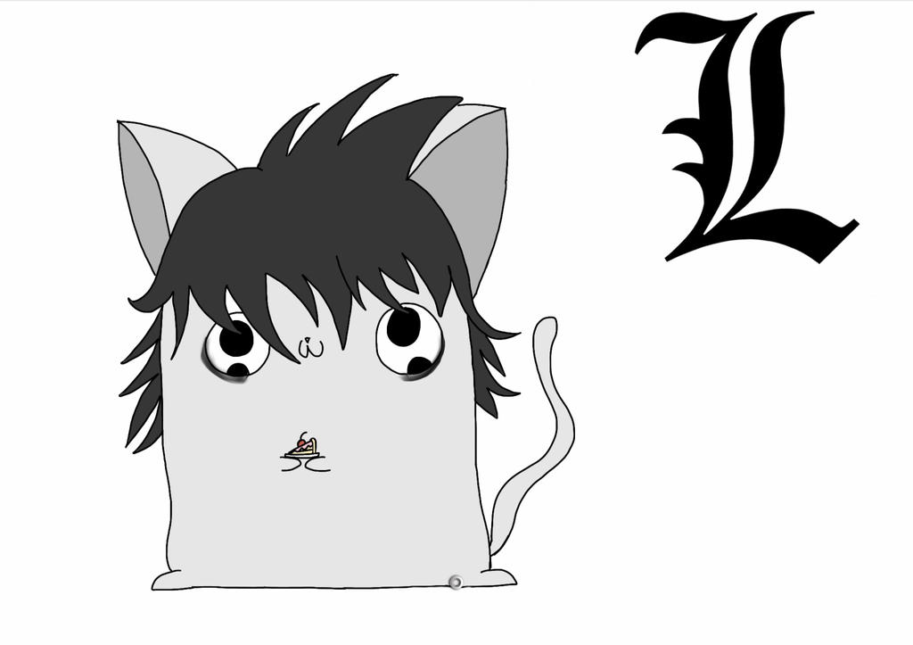 L Marshmellow Kitten (Death note) by Artmania1234
