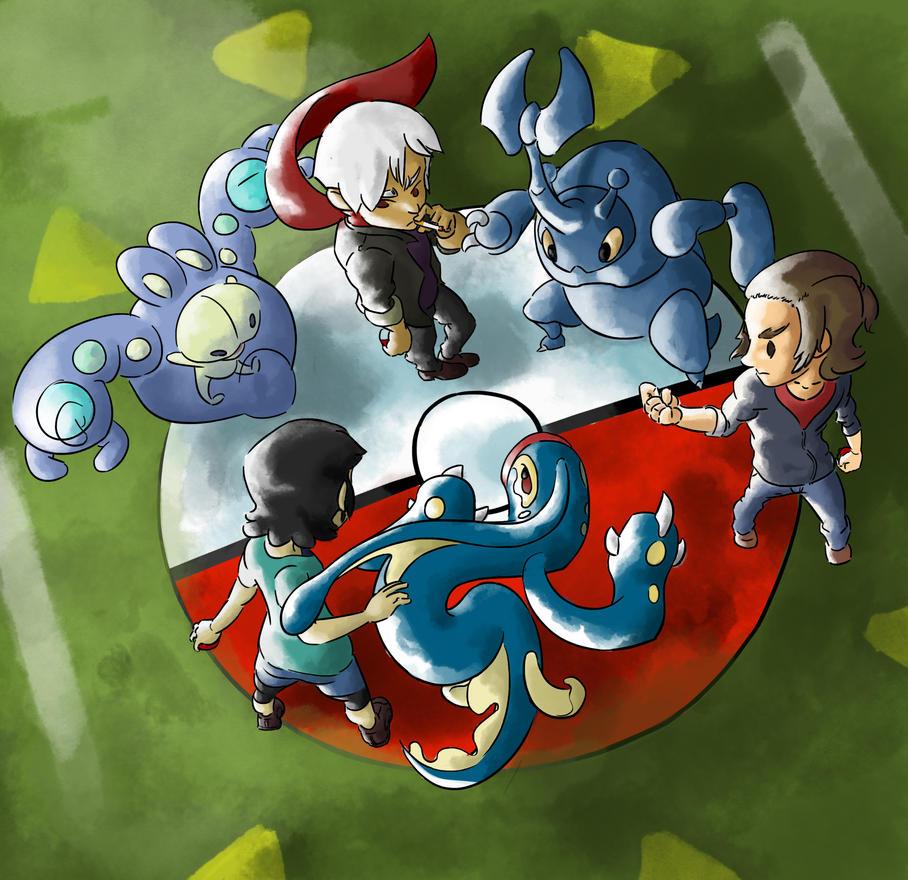 Pokemon Battle 20th Anniversary by BlankorGuncross
