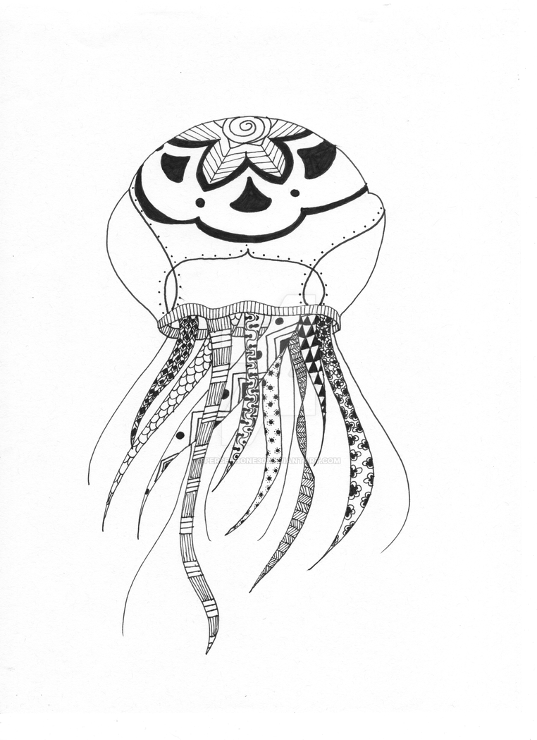 Zentangle Jellyfish by Persephone30