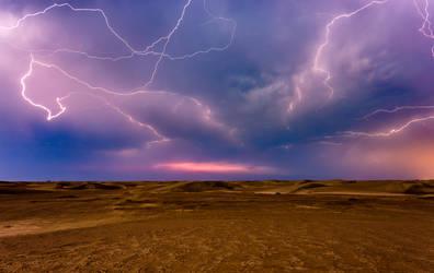 Sunset Storm I by mhmalali