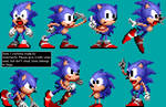 A bunch of Sonic sprites