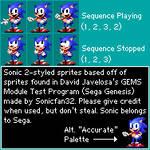 Sonic 2-styled GEMS Test Module sprites