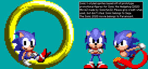 Sonic 1-styled sprites - Promotional Movie figures