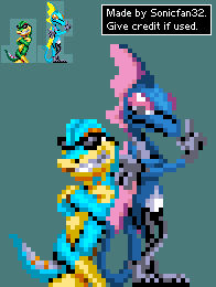 S1-styled sprites - Gex and Inteleon