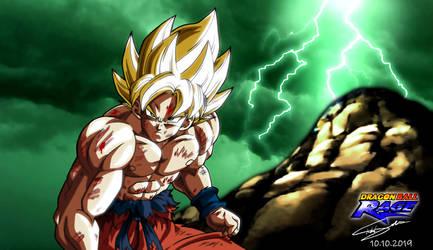 Goku SSJ on Namek