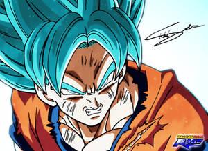 Son Goku SSJ BLUE (#dragonballdraw on Twitter)