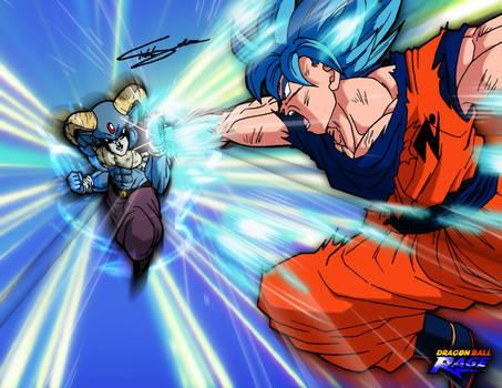 Goku SSJ BLUE VS Moro 73