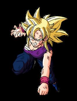 Kyuri Super Saiyan (Dokkan Battle Artwork)