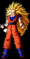 Son Goku SSJ3 PNG