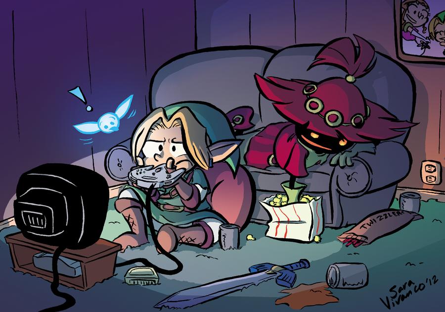 Link and Skull Kid: Bros. by halfeatencandybars