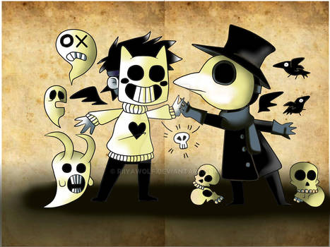 Zacharie and the plague doctor