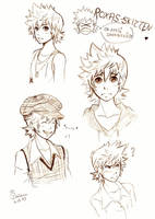 Roxas Sketches 1 by Cameco