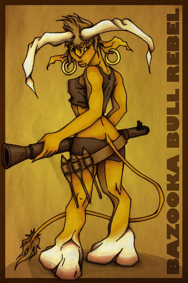 Bazooka bull rebel by lilvdzwan