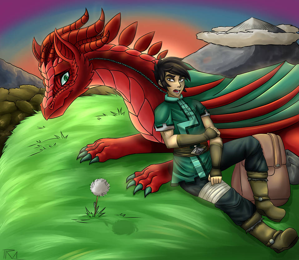 Aelwen and Gerel sitting by TheRickMaster