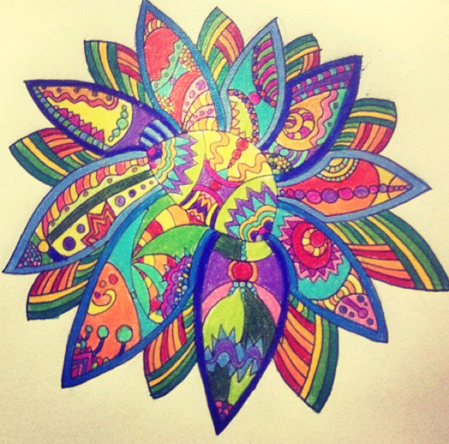 Flower Design Colored Pencil By Lizaelia On DeviantArt