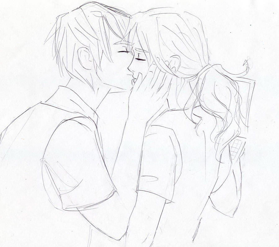 Line Drawing Kiss : Kiss lineart by dinoralp on deviantart