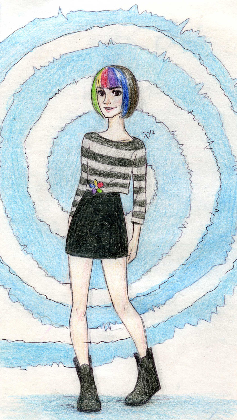 Arttrade LIGHT BLUE girl Bob by Dinoralp