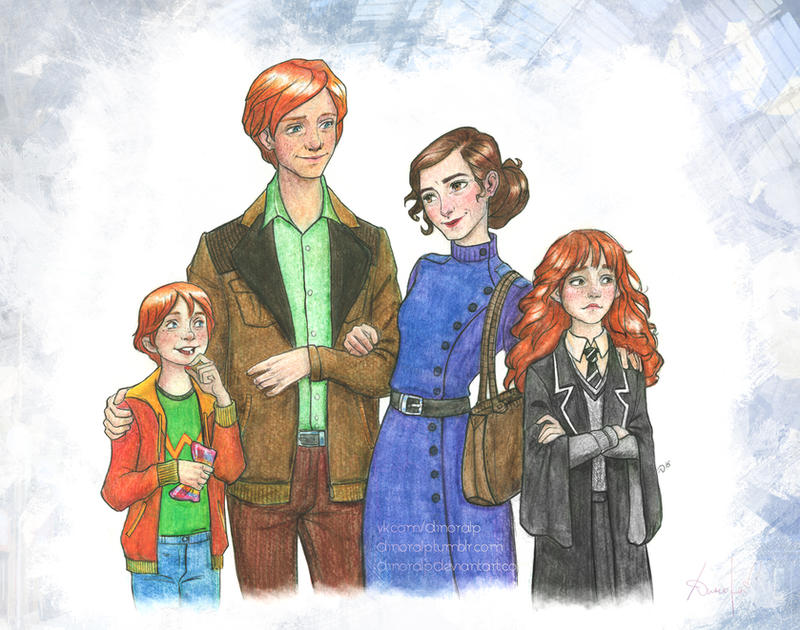 Granger-Weasley family by Dinoralp