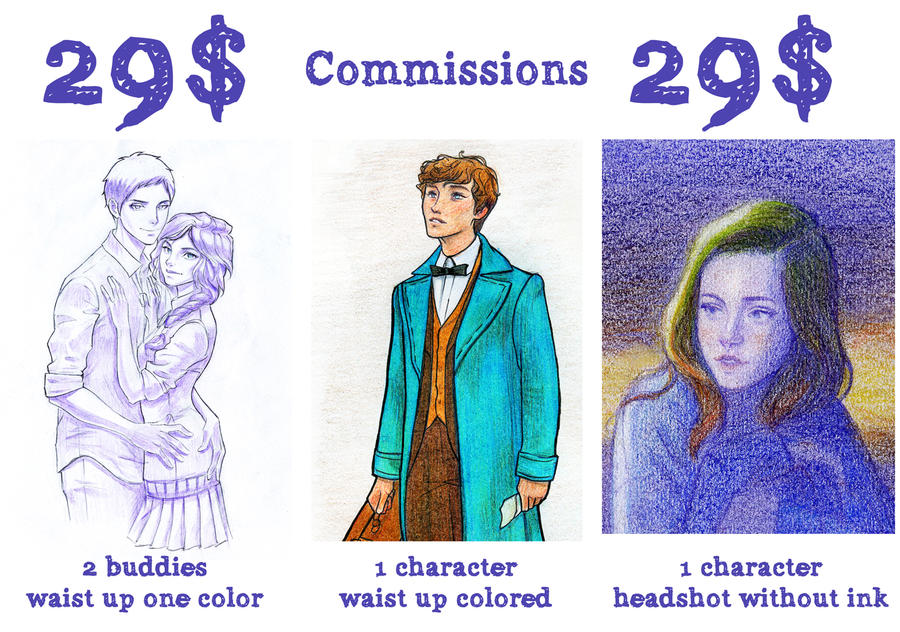 Commissions 29$ by Dinoralp