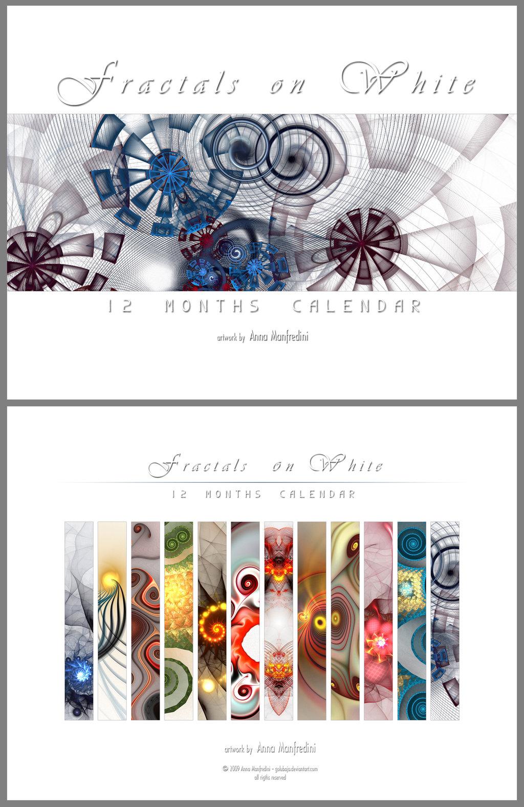 Fractals on White - Calendar by Golubaja