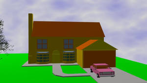 simpsons house and car