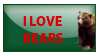 Stamp I love bears by kailor