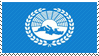 Stamp of Mediterranean Flag