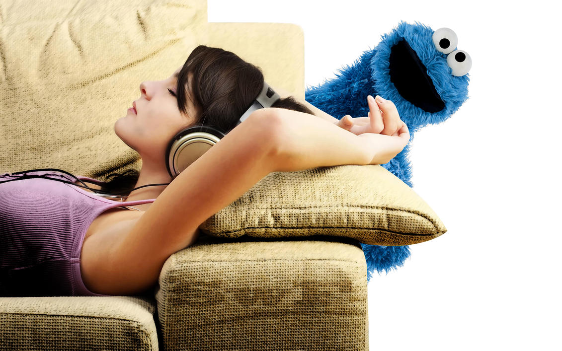 relax music + cookiemonster by Swiftak
