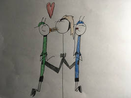 Green and Blue Ant's reward  by GandB101